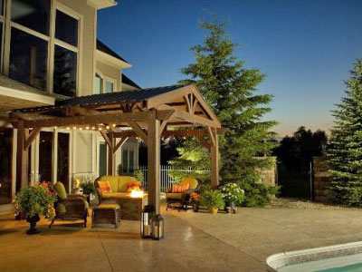Lodge-II Pergola - Shown with optional roof