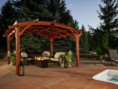 Sonoma 1216 and 16 Pergola - Redwood